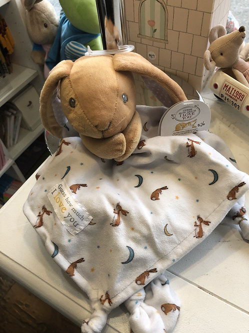 Guess how much I love you Nutbrown Hare snuggle blanky