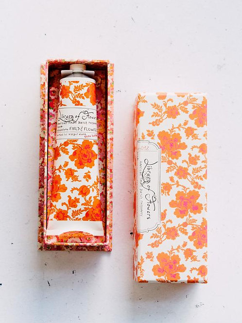 Library of flowers - Field & flowers Handcreme