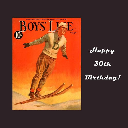 30th Vintage ski guy