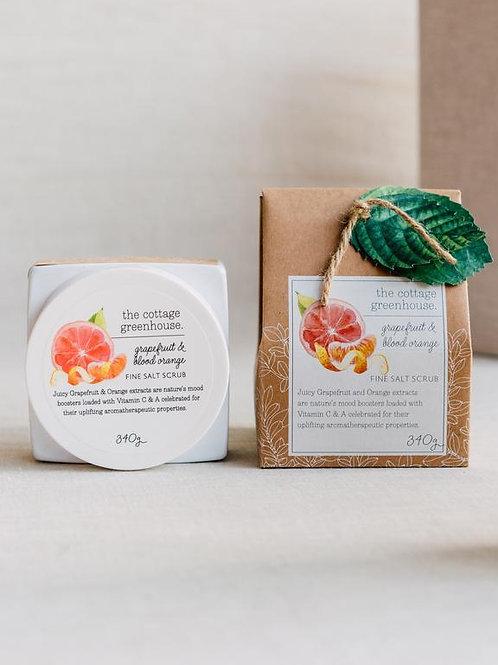 Cottage Greenhouse - Grapefruit & Blood Orange Salt Scrub