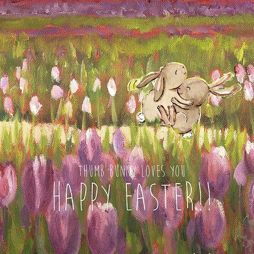 Easter - Thumb bunny (Helen Ott painting)