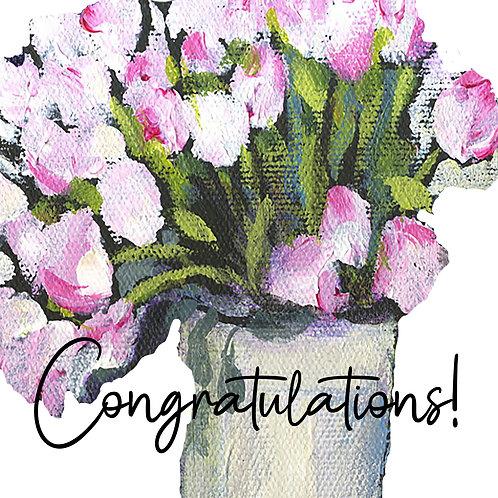 Congratulations - Mom's flowers