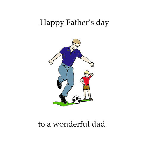 Father's day - soccer dad