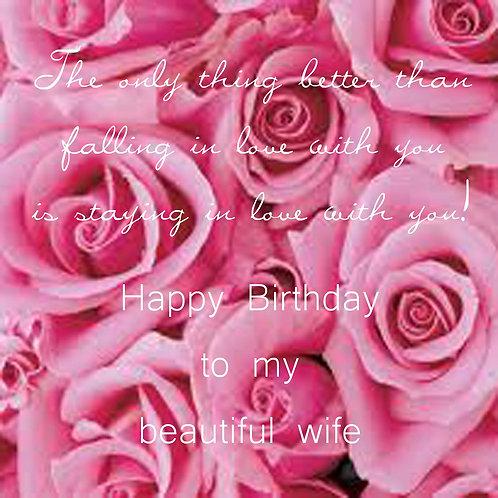 wife birthday - roses