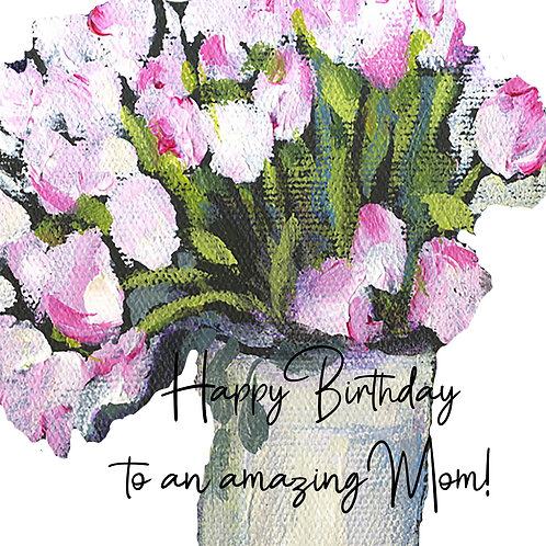 Mom birthday - pink tulips