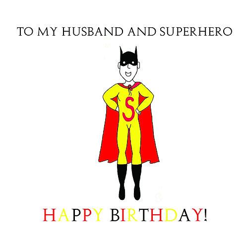 husband birthday - superhero