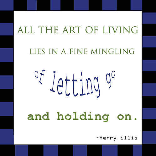 fine art of letting go