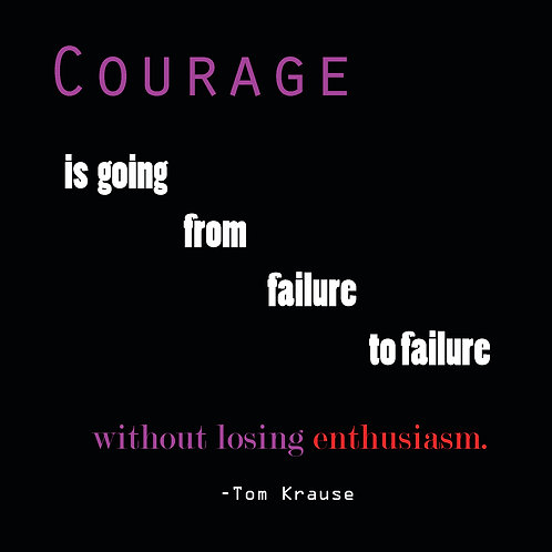 courage is going from failure to failure