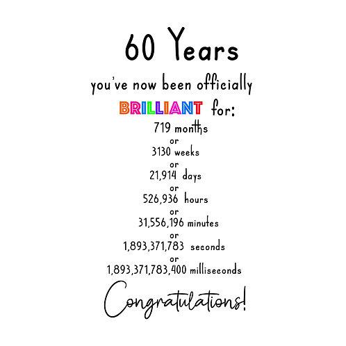 Brilliant 60th