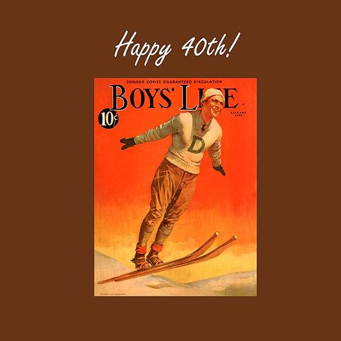 40th Vintage ski guy