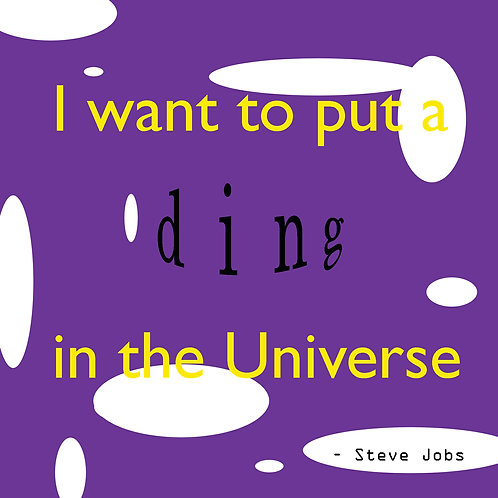 Steve Jobs - ding in the universe