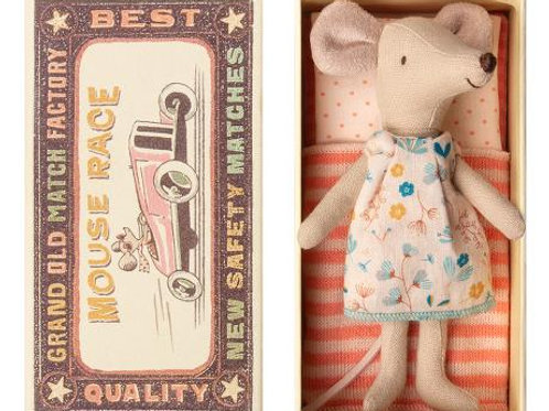 Big Sister mouse in box (floral tunic dress)