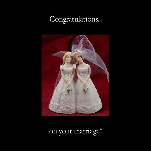 same sex wedding - cake toppers girls