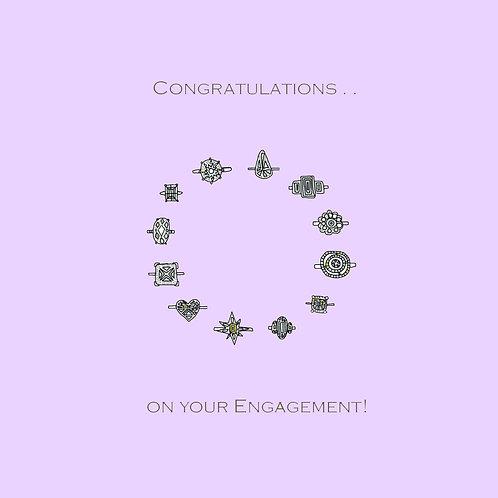 wedding engagement - rings (purple)