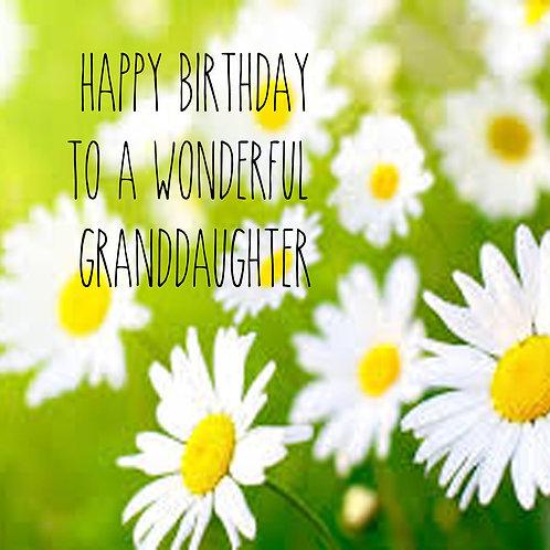 Granddaughter - daisies