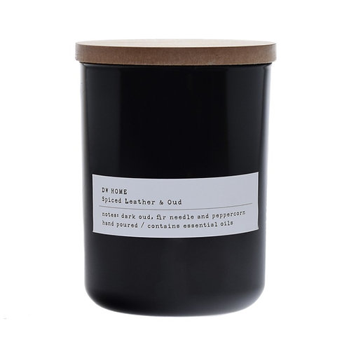Spiced leather & Oud candle (Typewriter series)