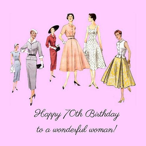 70th vintage wonderful woman