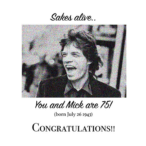 Mick is 70!