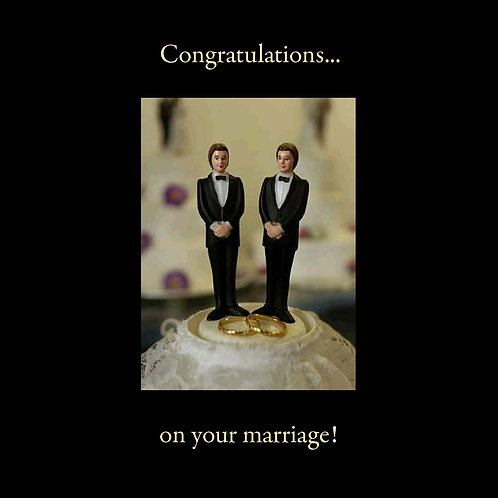 same sex wedding - cake toppers guys