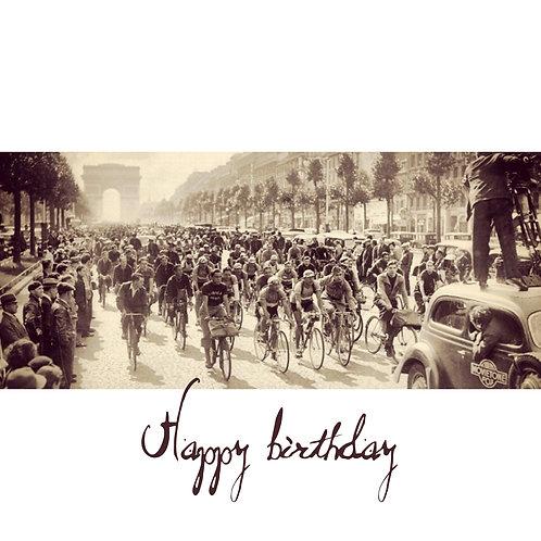 Champs Elysees Tour de France - birthday