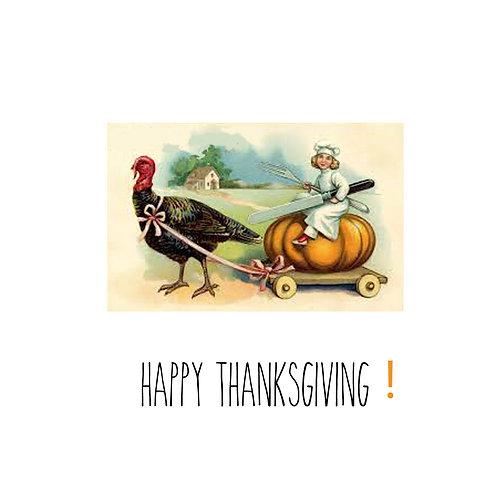 Thanksgiving - pumpkin chef