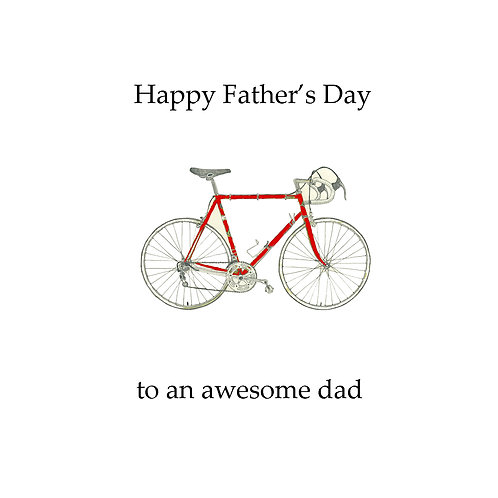 Father's day - red bike