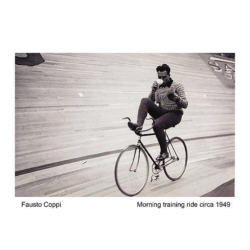 Fausto Coppi - Morning training ride