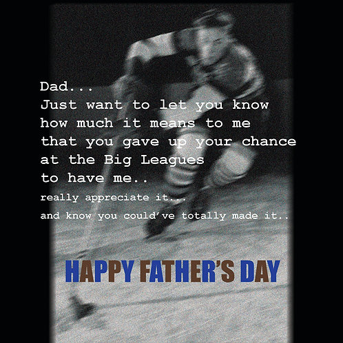 Father's day - hockey dad
