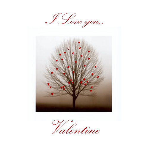 Valentines - romantic tree in the fog