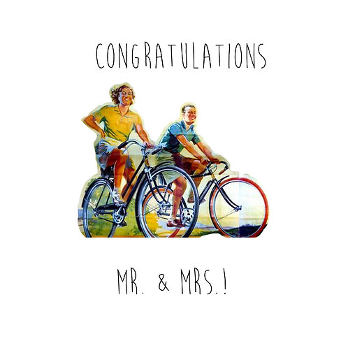 Mr. & Mrs. Cycling retro couple