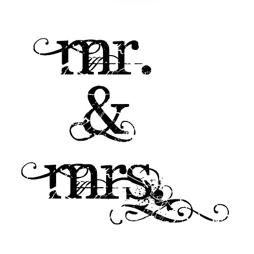 wedding - Mr. & Mrs. twilight font