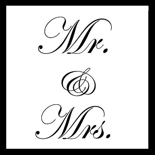 wedding - Mr. & Mrs. script font