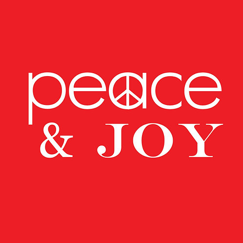 Peace & Joy (on red)
