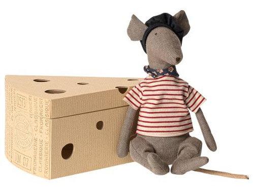 Rat in cheese box - grey