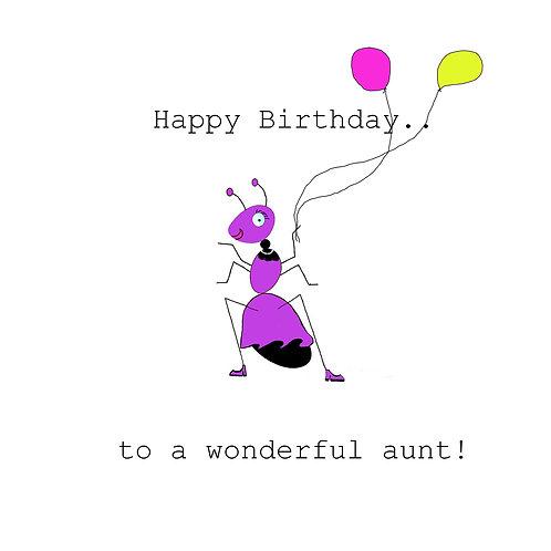 Aunt - wonderful ant
