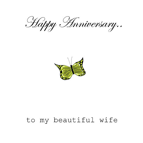 Ann. to spouse - Butterfly ( beautiful wife)