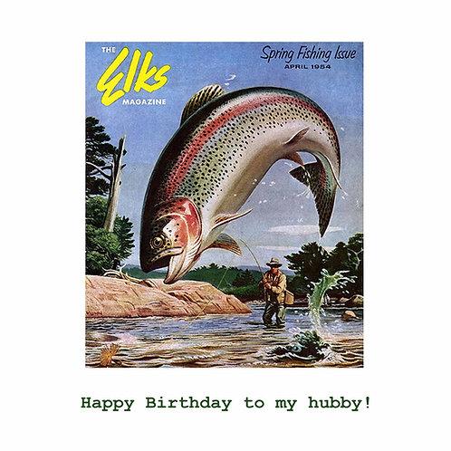 husband birthday - vintage fishing mag