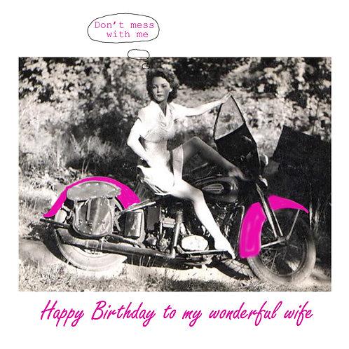 wife birthday - motorcycle