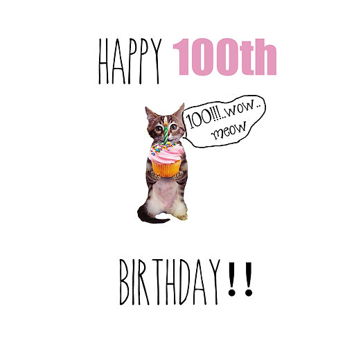 100th meow wow!