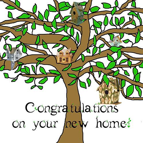 new home -birdhouse tree