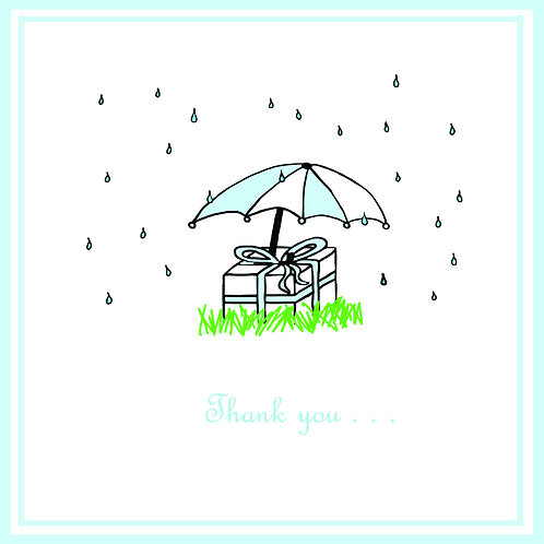 wedding thanks - umbrella