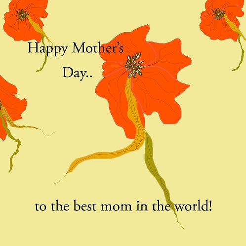 mother's day - orange flower