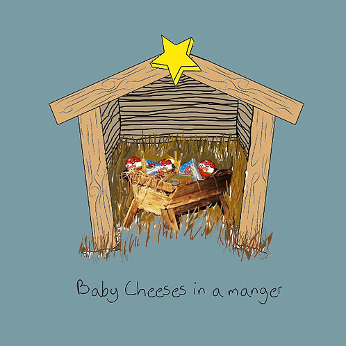 Baby cheeses in a manger