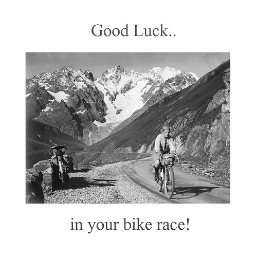cycling - good luck in your bike race
