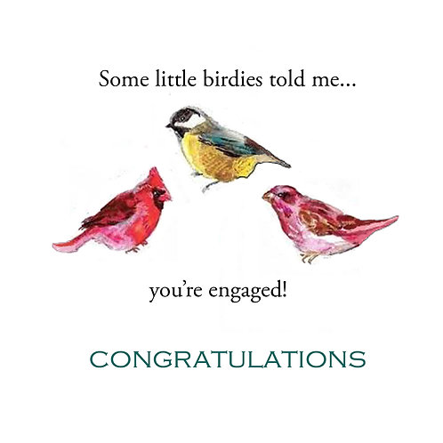 wedding engagement -birdies