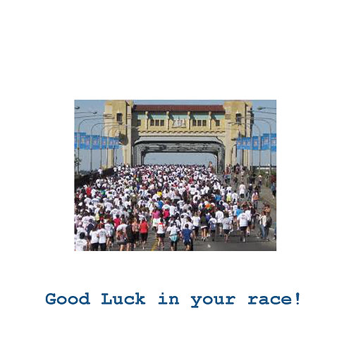 running - good luck in your race