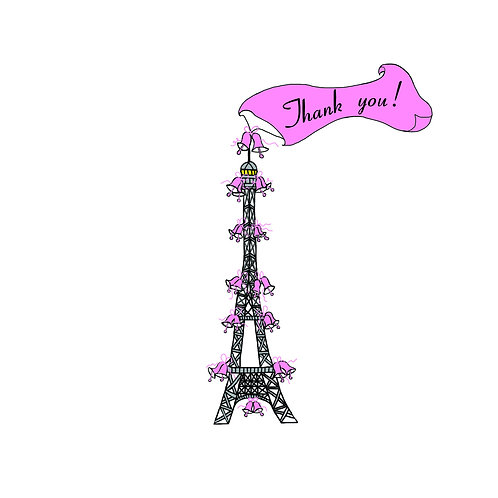 wedding thanks - eiffel