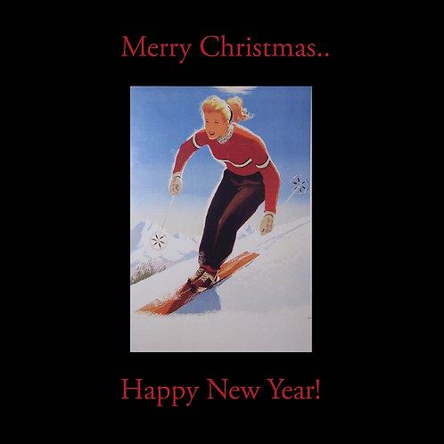 Retro Ski babe