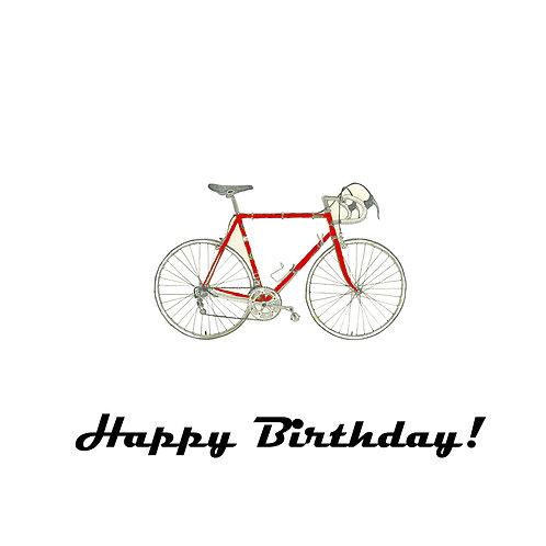 cycling - red bike birthday