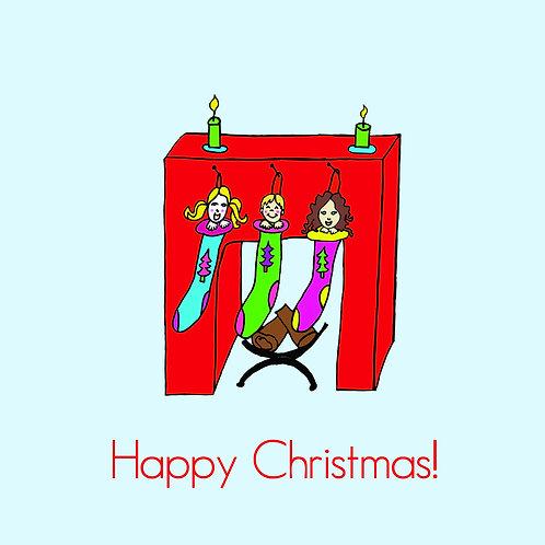 3 kiddies in stockings